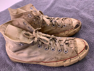 Vintage Converse Blue Label Sneakers MADE IN USA Mens Size 8 Shoes distressed