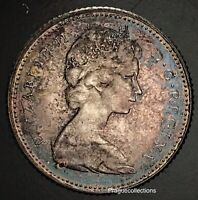 1867-1967 Elizabeth II 10 Cents Canada Silver Monster Tone Coin