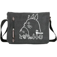 Anime Black Totoro Canvas Bag Messenger Shoulder Satchel School Kids Bag