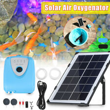 4000mAh Solar Powered Pond Water Pump Garden Air Stone Oxygen Aerator Oxygenator