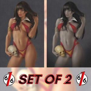 🚨🔥🦇 VAMPIVERSE #1 CELINA 616 Virgin Variant SET OF 2 LTD 500 COA Vampirella