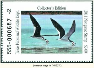 Texas Non-Game Stamp 2011 $3.00 (black skimmers) *SALE*