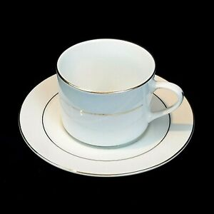 Gibson Everyday Housewares White Tea Cup and Saucer With Gold Trim Replacement