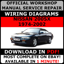# OFFICIAL WORKSHOP Service Repair MANUAL for NISSAN 200 SX 1974-2002 +WIRING #
