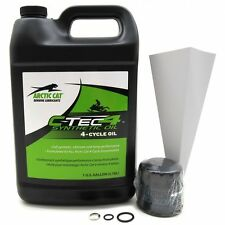 Arctic Cat 1100 5000 9000 Twin 4-Cycle Synthetic C-TEC4 Oil Change Kit 6639-528