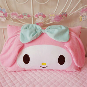 Anime My Melody Girl's Cute Bow Plush Pillow Case Cover Bedroom Pillowcases Gift