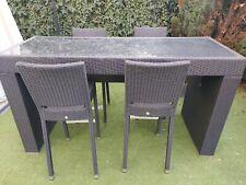 Rattan Gartenmöbel bar set