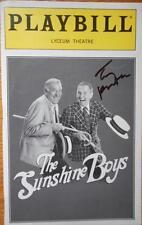 Tony Randall (Only) Signed Playbill  The Sunshine Boys  Jack Klugman  Neil Simon