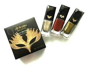 NEW Cle de Peau Beaute Collection Bal Masque Nail Laquer Trio Full Size 8 ML X 3