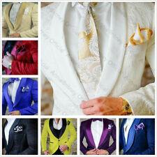 Jacquard Wedding Suit For Men Slim Fit Men's Suits with Pant Groom Jacket Pants