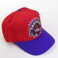 Toronto Raptors 90s Spellout 2 Tone Vintage Snapback Hat Cap NBA 100% Wool