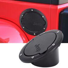 Black Fuel Filler Door Cover Gas Tank Cap 2/4 Door For 07-16 Jeep Wrangler JK