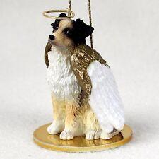 AUSTRALIAN SHEPHERD dog ANGEL ORNAMENT Figurine Christmas Brown puppy AUSSIE