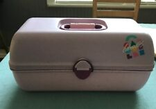 Caboodles Makeup Mirror Organizer Vtg Case Lavender Pageant Caddy Box Cosmetic