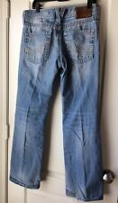 Buckle Big Star Pioneer Regular Boot Cut Mens 32R Distressed Denim Lt Blue Jeans
