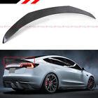 For 2017-2022 Tesla Model 3 V Style Sport Carbon Fiber Trunk Lid Spoiler Wing