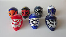Lot of 7 NHL Mini Franklin Hockey Team Helmets Gumball Machine Prize