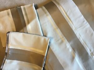 HOTEL COLLECTION QUEEN DUVET & TWO SHAMS, cream/beige/gold,