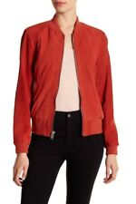 Andrew Marc Leigh Paprika Suede Bomber Jacket New With Tags Sz Medium Stunning
