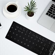Portugiesische Tastatur Aufkleber weiß schwarz Buchstaben für Laptop Co ICU