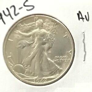 1942-S Walking Liberty Silver Half Dollar    E9051