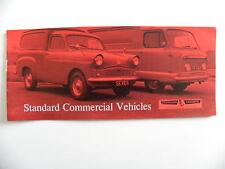 Petite brochure anglaise STANDARD TRIUMPH commercial vehicles
