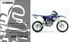 2001-2013 Yamaha WR250F Service Repair Workshop & Owner's Manual CD -- WR 250 F