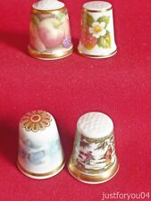 4 Mixed  Collectors Thimbles. 2 Sutherland & 1 Spode and 1 Wedgwood