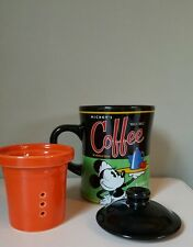 Vintage Disney Mickey's Infuser Coffee Mug Complete with Infuser and Lid