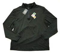 NWT G.H. Bass & Co. Men's 1/4 Zip Long Sleeve Pullover Green, Size XL