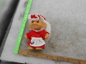 "VINTAGE Russ MRS. SANTA CLAUS- CHRISTMAS TROLL DOLL 3"""