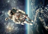 Astronaut Earth Space Stars Giant Print Art Poster - A5 A4 A3 A2 A1 A0 Sizes