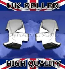 NEW FORD TRANSIT VAN MK8 S.STEEL CHROME WING MIRROR COVER SURROUNDS CAP SET 2PCS