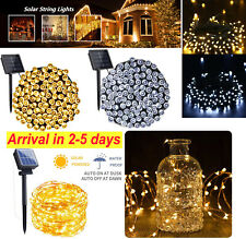 Outdoor Solar Fairy String Lights Copper Wire Waterproof Garden Decor Lamp LED