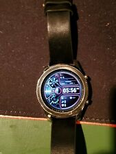 Samsung Galaxy Gear S3 classic 46mm Stainless Steel Case Black Leather Band (Ve…