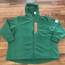 Mens 4XL Miami Hurricanes Adidas Gamemode Full Zip Jacket New With Tags NWT
