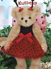 "Bearington Bear LAURA B. LUCKY 14"" Lady bug Ladybug Girl #143296 NEW SPRING 2015"