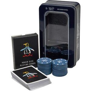 Penguin Poker Playing Card Set Tin Gift For Him Her Christmas
