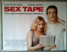Cinema Poster: SEX TAPE 2014 (Laptop Quad) Jason Segel Cameron Diaz Rob Lowe