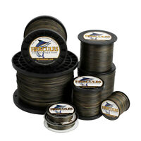 Hercules 4 8 9 12 Strands Extreme 6-300lbs PE Braided Fishing Line Camouflage