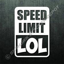 Funny Car Sticker Speed Limit LOL Funny Bumper Sticker Vinyl Decal Sport JDM BMW