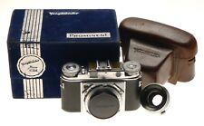 Voigtlander Prominent 35mm Rangefinder Film Camera Ultron 1:2/50 Lens Pouch Box