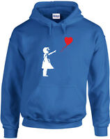Banksy Balloon Girl, Printed Mens Designer Hoodies Male Hoody Hooded Jumper