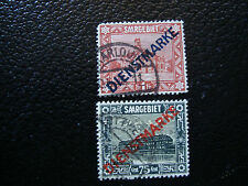 SARRE(allemagne) -timbre-yvert et tellier service n°14 15 obl (A6)stamp germany