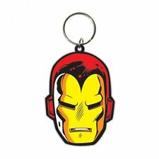 MARVEL IRON MAN FACE RUBBER KEYRING NEW OFFICIAL MERCHANDISE
