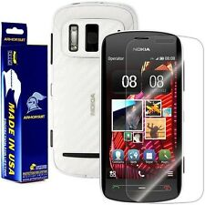 ArmorSuit MilitaryShield Nokia 808 PureView Screen + White Carbon Fiber Skin!