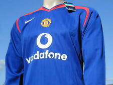Rare Manchester United 05 Player Issue LS 3rd Shirt XL