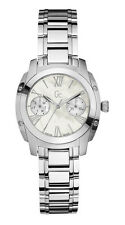 NEW GUESS COLLECTION GC BELLA MOP LADY WATCH SS SILVER BRACELET DATE A58001L1