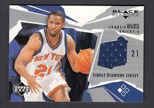 Charlie Ward 2003-04 UD Black Diamond Single Diamond Jersey Card
