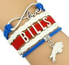 WHOLESALE LOT of 10 Buffalo Bills Football Infinity Bracelets